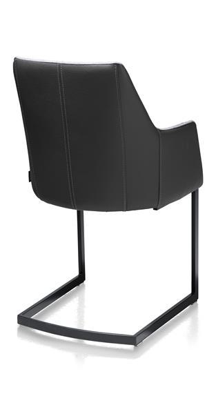 Xooon Giuliette armstoel zwart (ROB) - Kibo/Tatra combi - antraciet  Eetkamerstoel
