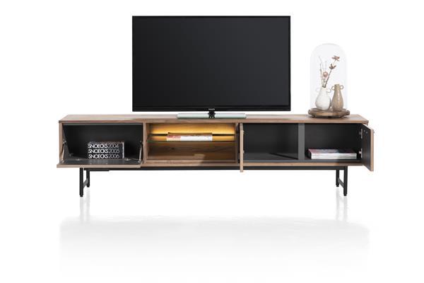 Xooon Torano lowboard 200 cm - 2-deuren + 1-klep + 2-niches (+ LED)  Tv-dressoir