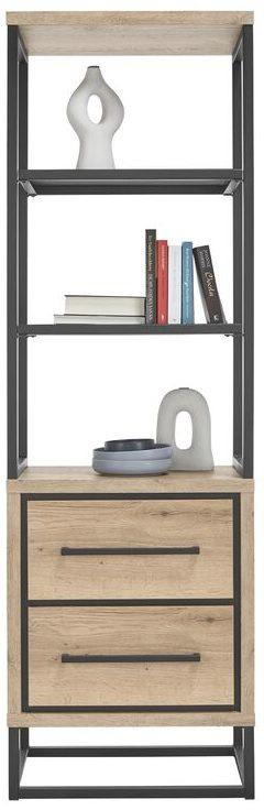 IN.House Boekenkast Sontari houtstructuur/metaal  Boekenkast