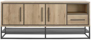 IN.House Dressoir Sontari houtstructuur/metaal  Dressoir