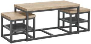 IN.House Salontafel Sontari houtstructuur/metaal  Salontafel