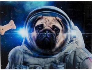 Glass Dog in Space 80x60 Kare Design  52596