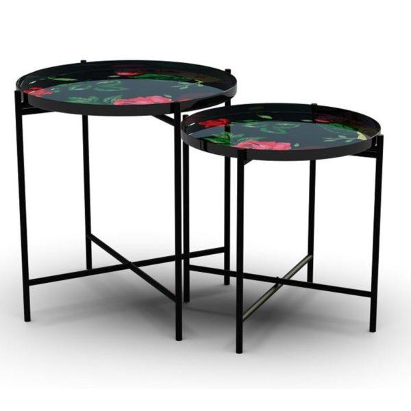 Table Flowers Garden Round (2/Set) Kare Design  86321