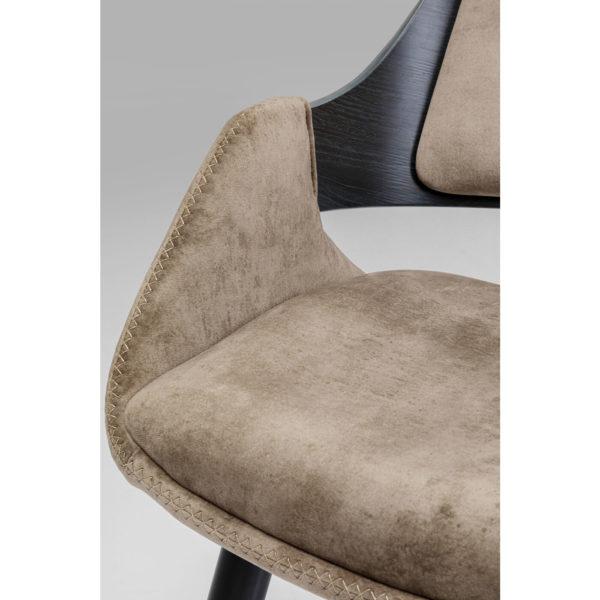 with Armrest Sharona Champagne Kare Design  84624