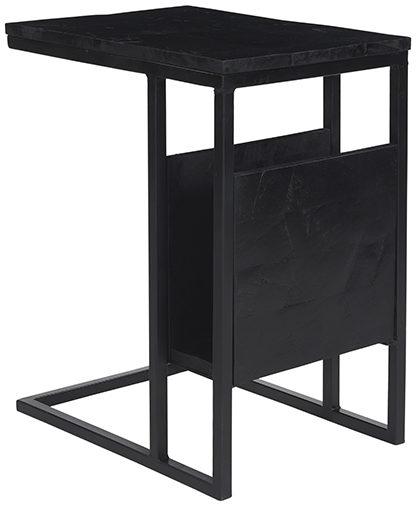 LABEL51 Bijzettafel Shift - Zwart - Mangohout Zwart Bijzettafel