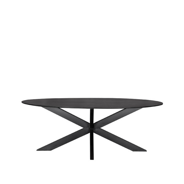 LABEL51 Eetkamertafel Zion - Zwart - Hout Zwart Eettafel