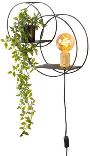 Circle wandlamp - mat goud / messing Lucide Wandlamp 21225/01/30