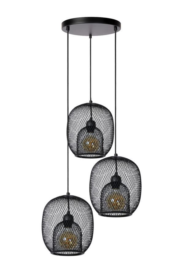 Jerrel hanglamp - zwart Lucide Hanglamp 78396/03/30