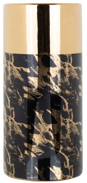Richmond Interiors Vaas Ayleen klein zwart (Gold) Gold Woonaccessoire