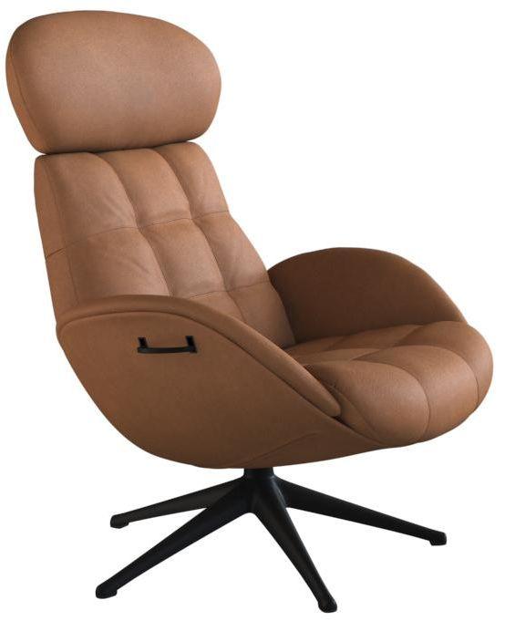 Chester fauteuil Flexlux in leder Nature cognac