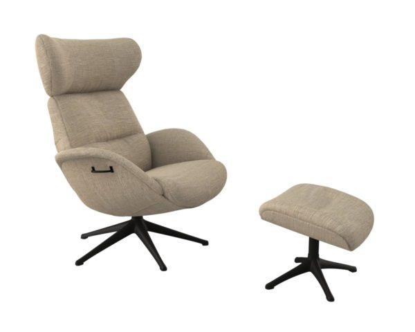 More fauteuil Flexlux in stof Brescia sand
